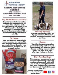 Roice-Hurst Humane Society ARC Flyer English
