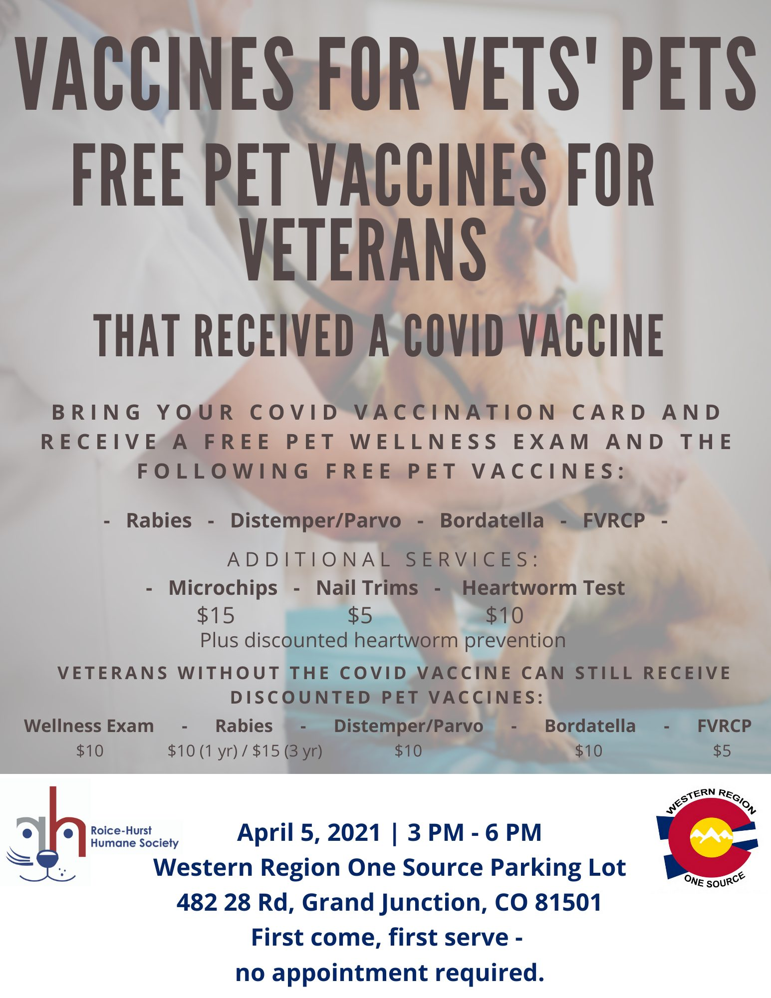 Vaccines For Vets' Pets